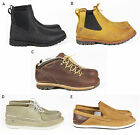 MENS TIMBERLAND CASUAL LEATHER SLIP LACE CHELSEA ANKLE BOOTS SHOES SIZE UK 9.5