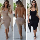 UK Womens Bodycon Cocktail Bandage Dress Ladies Party Evening Dress Size 6 - 14