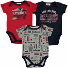 Infant Navy New England Patriots Field Goal 3-Pack Bodysuit Set