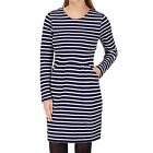 Joules Thurwell Jersey  Womens  Sweat Dress - Navy Stripe