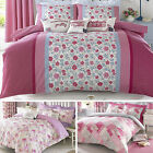 Kirstie Allsopp Pink Floral Cotton Bedding Duvet Quilt Cover & Pillowcase Set