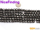 "Magnetic Black Hematite Stone Round Twist Jewelry Making Gemstone 15"" 6mm 8mm"
