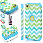 For iPod Touch 5th Gen -Hard Soft Rubber High Impact Armor Case Hybrid Cover