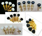 5 string banjo machine heads,Golden plated, ebony, acrylic, inlaid button,328G