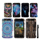 For Motorola Atrix 3 Dinara HD MB886 Snap On PATTERN HARD Case Phone Cover + Pen