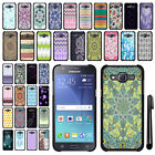 For Samsung Galaxy J5 J500 SLIM FIT PATTERN HARD Case Back Phone Cover + Pen