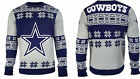 Dallas Cowboys NFL 2015 Big Logo Ugly Crew Neck Sweater Size: S-XXL