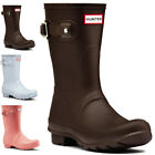 Womens Hunter Original Short Rain Snow Winter Waterproof Wellies Boots UK 3-9