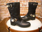 Vince Camuto Wexle Black Leather Buckle Moto Boot NEW