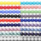20 Round Czech Glass Loose Druk Beads In Many Opaque Colors & Sizes Small - Big