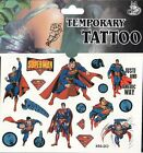 SUPERMAN DISNEY Temporary Tattoos Brand New and Fully Sealed