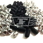 MIXED 40 PIECE M3 M4 M5 M6 SOCKET GRUB SCREWS CUP FLAT CONE STAINLESS / BLACK