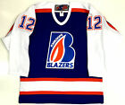 JAROME IGINLA KAMLOOPS BLAZERS WHL JUNIOR AUTHENTIC JERSEY NEW W FIGHT STRAP