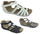Ladies Shoes Step On Air Rani Gladiator Comfort Sandals Black White Pewter 6-11