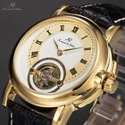 KS 4 Colours Mechanical Automatic Tourbillon Leather Mens Sport Wrist Watch Gift