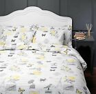 SONG BIRD VINTAGE STYLE DESIGN DUVET COVER QUILT SET YELLOW WHITE