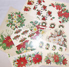 Ceramic Decals Christmas Floral  Asst. Designs  Poinsettia Holly Pine Cone Berry image