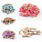 100x Mini Wooden Pegs 3cm Clips Party Favour Lolly Bag Kids Crafts NEW