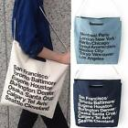 American City Letters Canvas Handbag Shopping Bag Shoulder Messenger Bag - LD