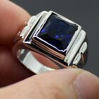 COOL Men Handmade Stainless Steel Sapphire HUGE Band HI-Q Ring Sz 9-11 Free Ship