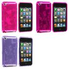 Color Butterfly Flower TPU Rubber Skin Case Cover for iPod Touch 4th Gen 4G 4