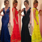 2016 Sexy lace mermaid Long Prom Dresses Formal Evening Party dress Ball Gown U#
