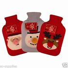 HOT WATER BOTTLE CHRISTMAS KNITTED COVER SANTA SNOWMAN REINDEER RUDOLPH GIFT