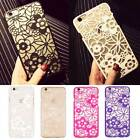 Ultra Slim Hollow Flower Cutout Snap On Case Cover For iPhone 5 5S 6 6S Plus