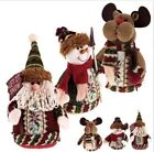 2015 Christmas Xmas Standing Decoration Santa Claus Snowman Deer Table Ornament