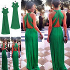Womens Formal Prom Long Cocktail Party Ball Gown Evening Bridesmaid Dress Tide