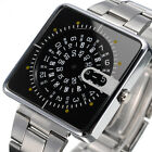 New Men's Fashion Luxury Square Stainless Steel Analog Quartz Wrist Watch Hot
