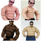 MENS MUSCLE CHEST SHIRT RAMBO PADDED ARMY BOYS STRONGMAN FANCY DRESS COSTUME TOP