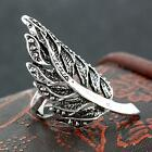 Punk Fashion New Antique Tibetan Silver Alloy Leaf Finger Ring Size 8-11