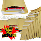 GOLD PADDED BUBBLE ENVELOPES BAGS - QUALITY FSC APPROVED  *ALL SIZES/QTY'S*