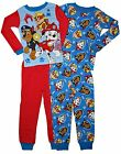 Paw Patrol 4 PC Long Sleeve Cotton Tight Fit Pajama Set Boy Size 5T