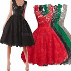 New Womens Vintage Lace Bridesmaid Evening Formal Cocktail Mini Party Dress