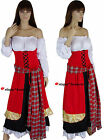 Medieval Wench Gypsy Oktoberfest Game of Thrones Dress Costume 10 12 14 16 18 20