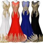 2015 New Lady Sexy Lace Black Mermaid Long Formal Evening Dress Party Ball Prom