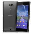 2014 SONY XPERIA M2 FUSION BUMPER GEL CASE WITH CLEAR REAR PANEL