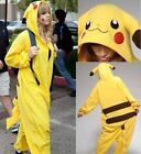 HOT New Kigurumi Pajamas Anime Cosplay Costume unisex Adult Onesie Dress Pikachu