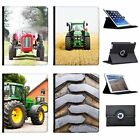Farm Vehicle Tractor Folio Cover Leather Case For Apple iPad Tablet