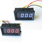 "0.4"" DC 4.5-30V Car Red Blue LED Digital Display Hour Minute Second Meter Panel"