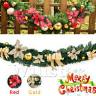 6ft/1.8m Thick Wreath Fireplace Christmas Xmas Decor Garland Pine Tree Luxury Uk