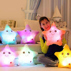 Smile Star Shape Glow LED Pillow Color Changing Light Up Soft Cosy Relax Cushion