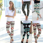 Women Stretchy Print Leggings Casual Skinny Leggings Slim Pencil Pants Trousers