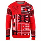 Chicago Blackhawks Ugly Christmas Sweater PATCHES Crew Neck Pick Size Free Ship $51.95 USD on eBay