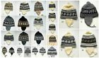 Winter Knit Hats with ear flaps in Assorted Colors Adults Men Women Guys Ladies