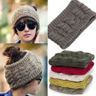 Fashion Women Hair Bands Winter Warm Braided Knit Wool Hat Cap Headband EE