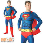 Comic Book Superman Mens Fancy Dress DC Superhero Book Week Adult Costume Outfit