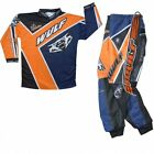Wulfsport Kids Childrens Crossfire Cub Motocross Motorbike Quad - Orange / Blue